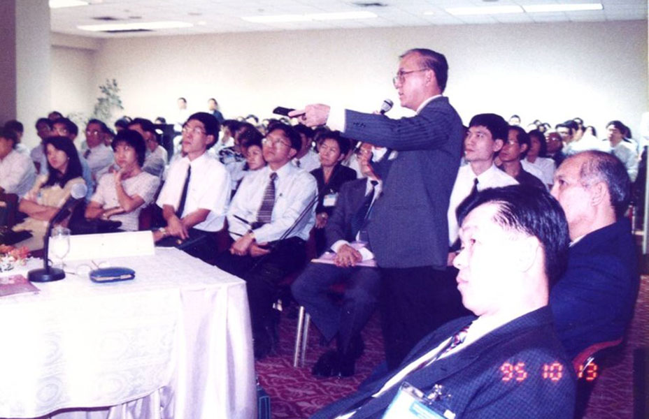 Meeting the Thai O&G Society in Bangkok, 13th October 1995